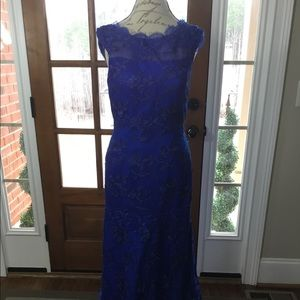 Royal Blue Lace Formal Gown